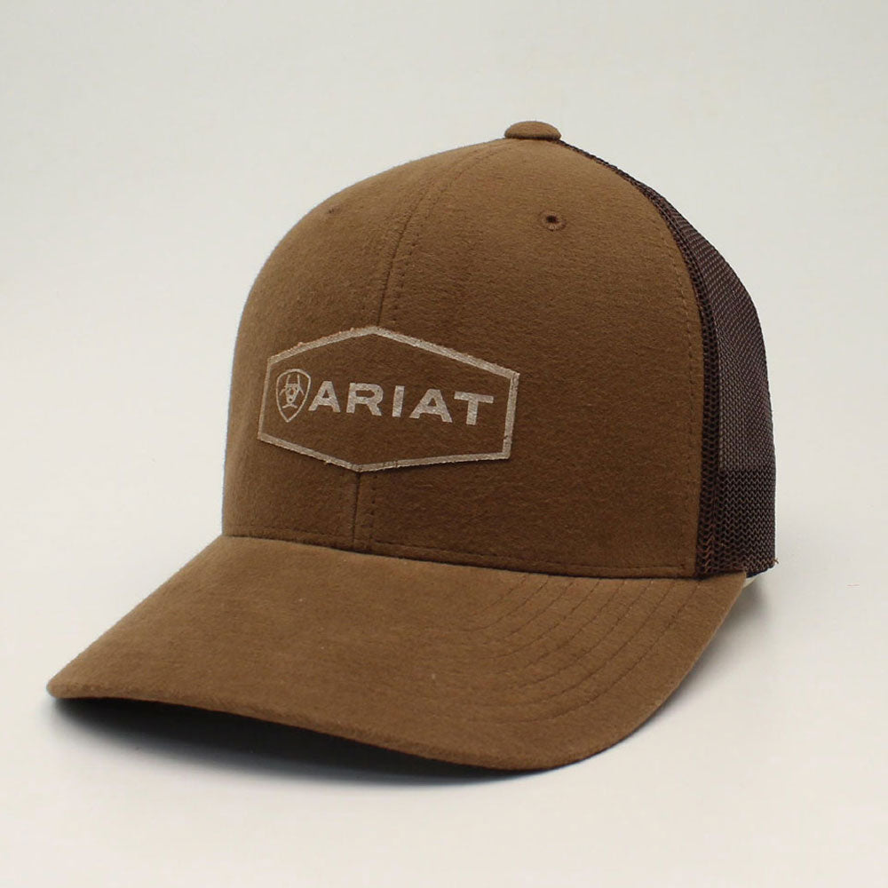 A300013802 Ariat Men's Brown FlexFit110 Logo Snap Back Cap