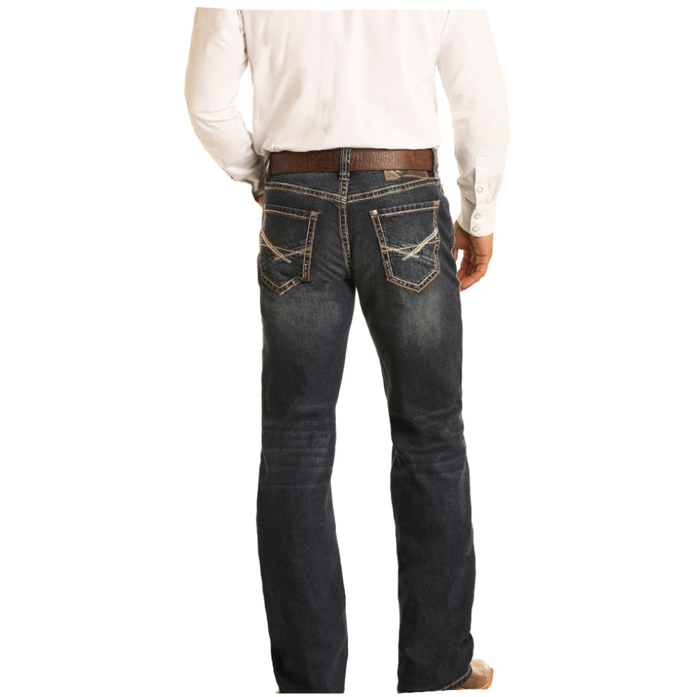 M0S6164 Rock And Roll Cowboy Men's Double Barrel Relaxed Straight Western Jean