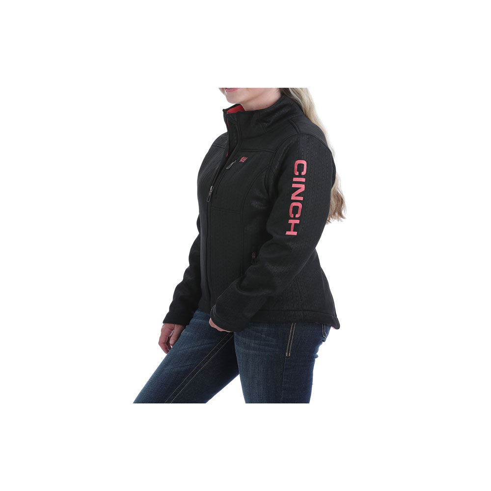 Cinch Ladies Concealed Carry Bonded Jacket Black and Coral MAJ9866017