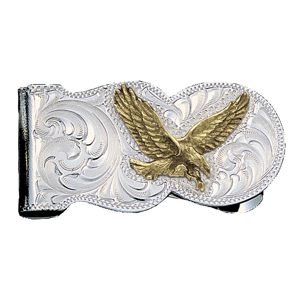 MCL5 Montana Silversmiths Eagle Scalloped Money Clip