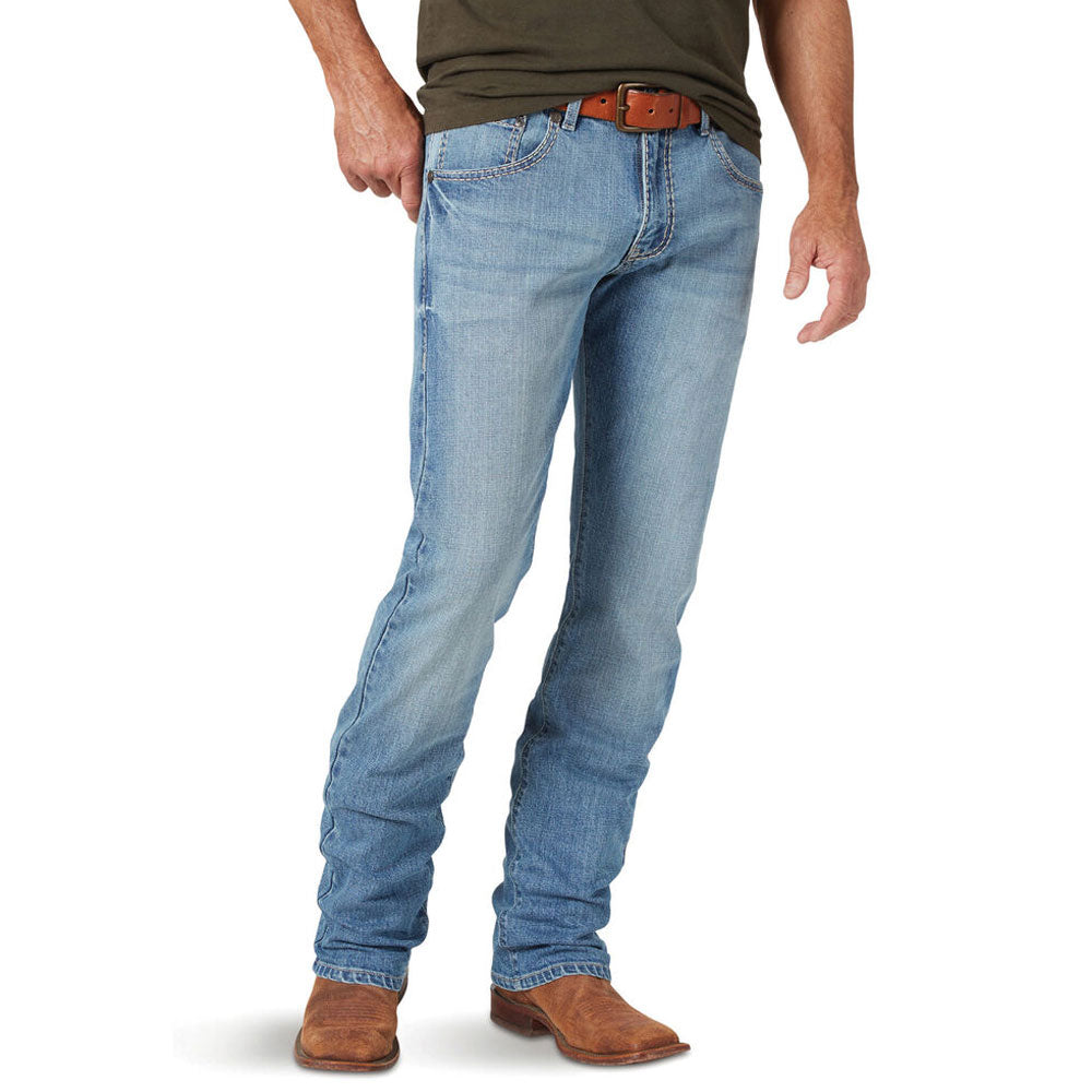 MRS47TB Rock 47 by Wrangler Men's Slim Straight Leg Jean Color: Talk Box