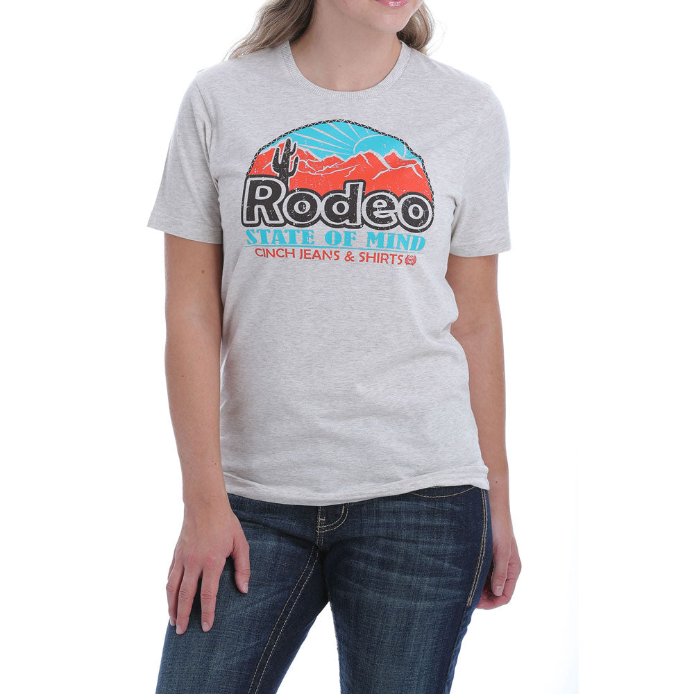 MST7848013 Cinch Women's Rodeo State of Mind Logo Tee