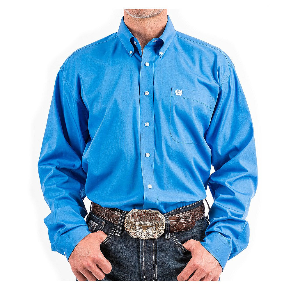 MTW1103799 Cinch Men's Blue and Square Button Long Sleeve Western Shirt