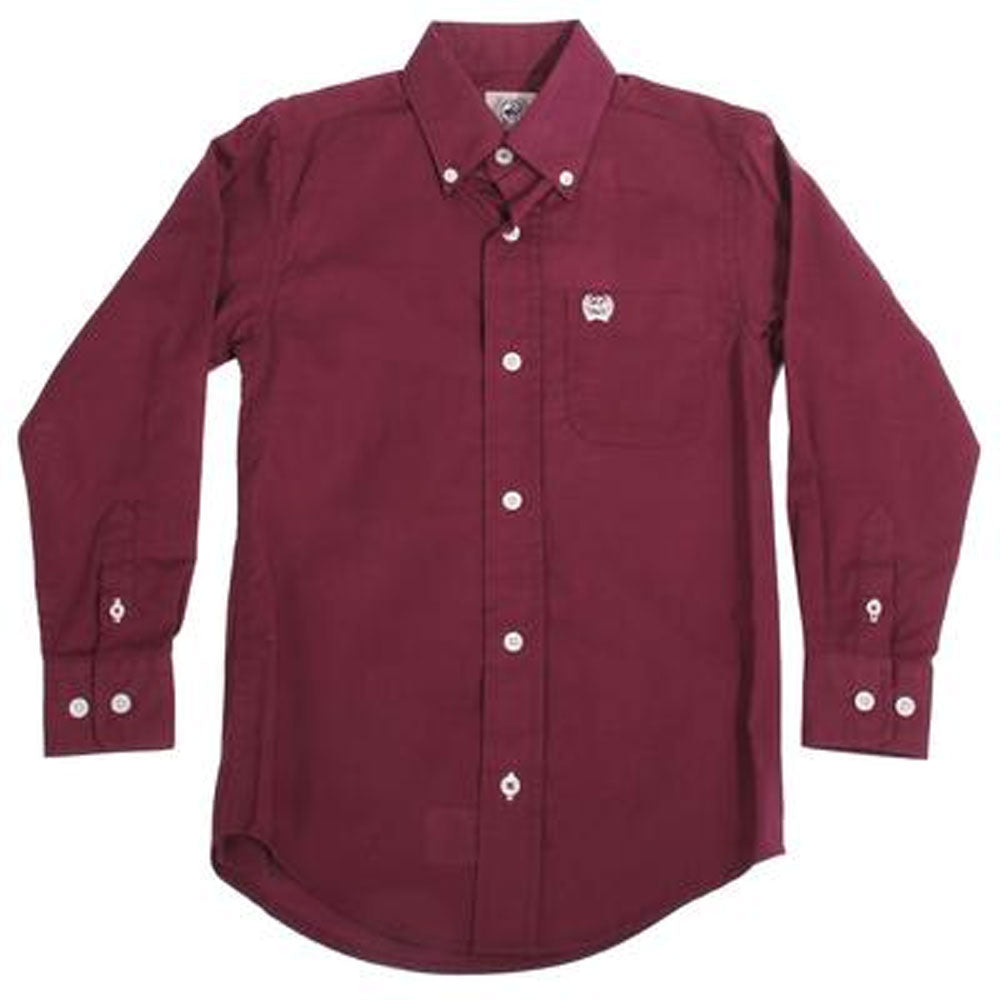 MTW7060249 Cinch Boys Long Sleeve Button Down Western Shirt