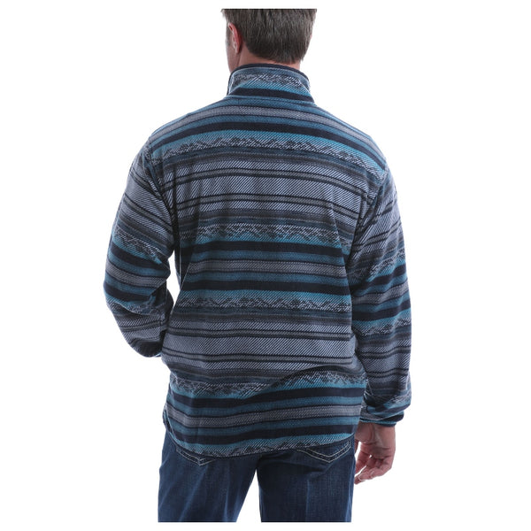 MWK1514004 Cinch Men's Blue Stripe Fleece Pullover
