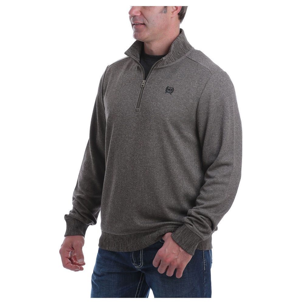 MWK1536002 Cinch Men's 1/4 Zip Sweater Knit Pullover Sweatshirt