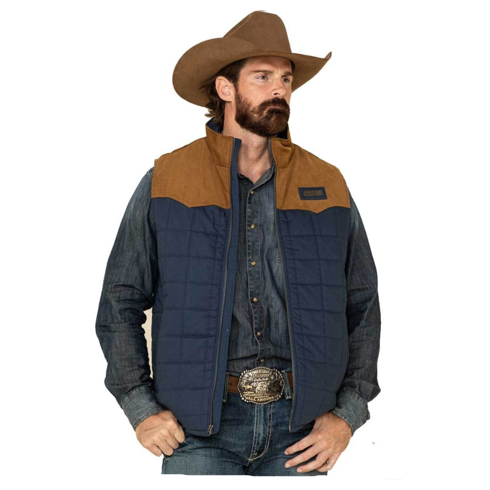 MWV1096003 Cinch Men's Quilted Polyfill Full Zip Vest