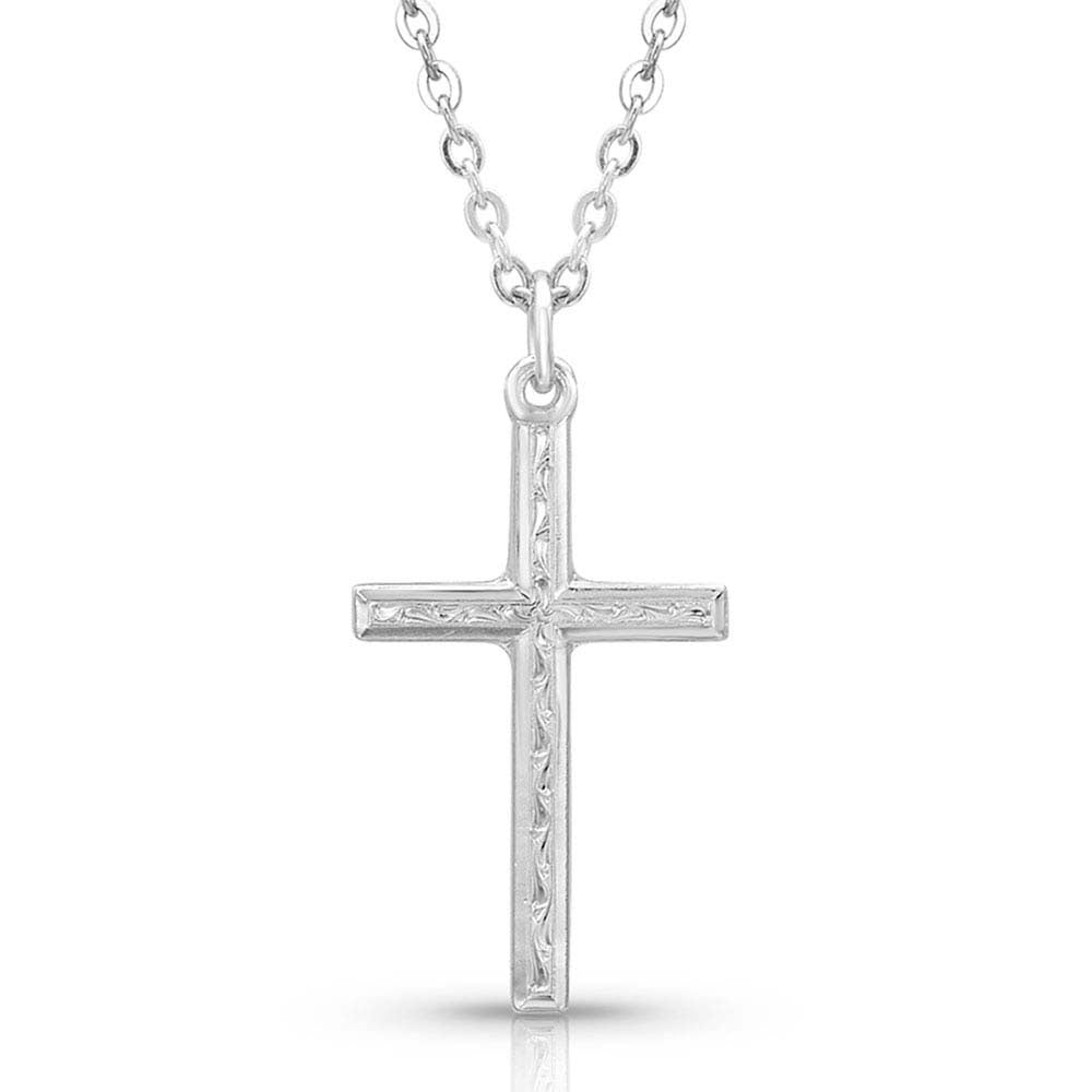 NC4342 Montana Silversmiths Gratitude Cross Necklace