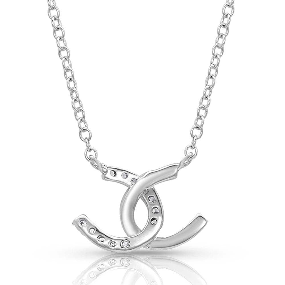 NC4505 Montana Silversmiths Horseshoe Happiness Necklace