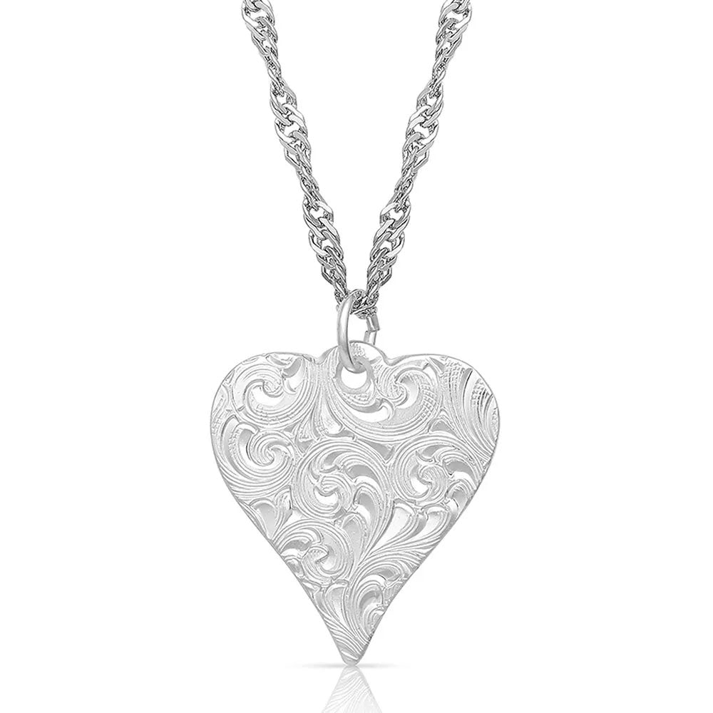 NC4701 Montana Silversmiths Just My Heart Necklace
