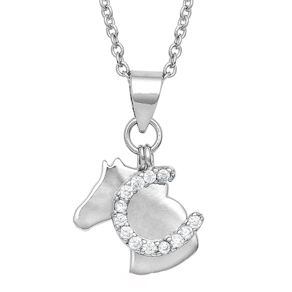 NC4763 Montana Silversmiths Horsing Around Charm Necklace