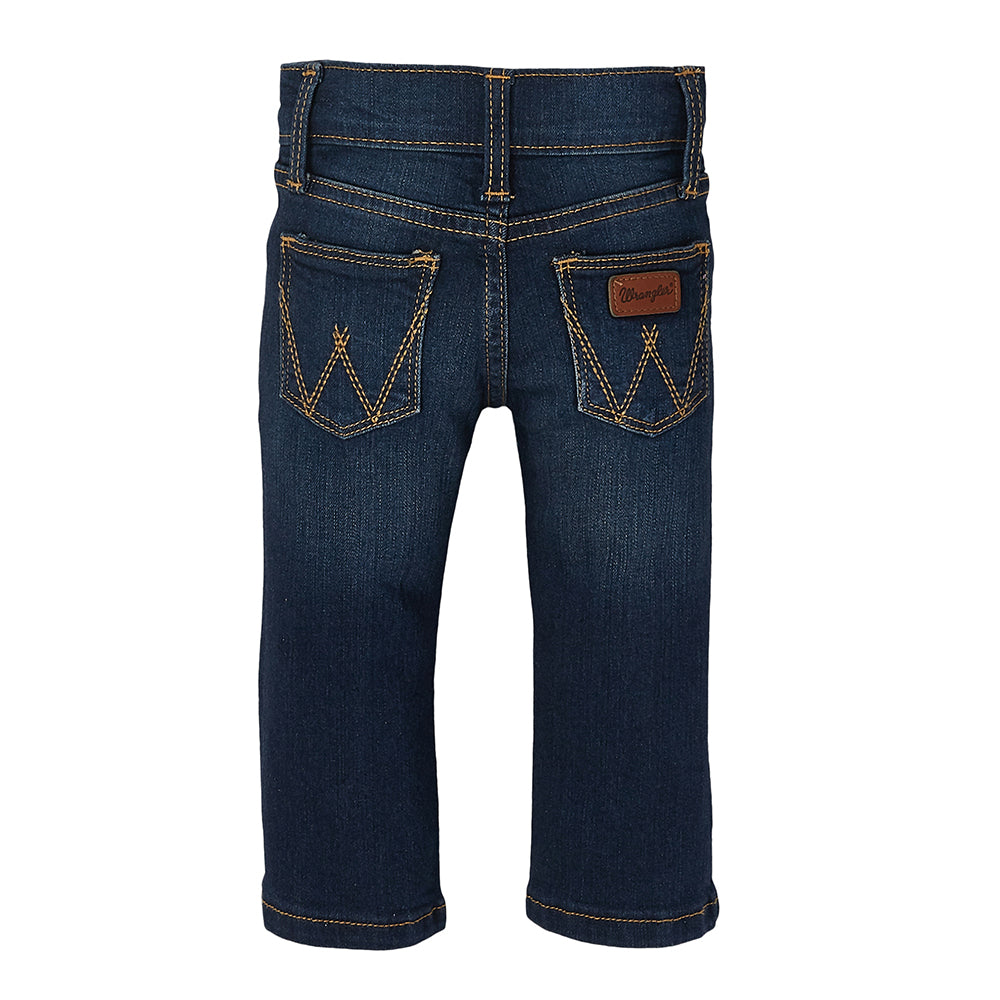 PQJ136D Wrangler Toddler Medium Wash Adjustable Waist Jeans