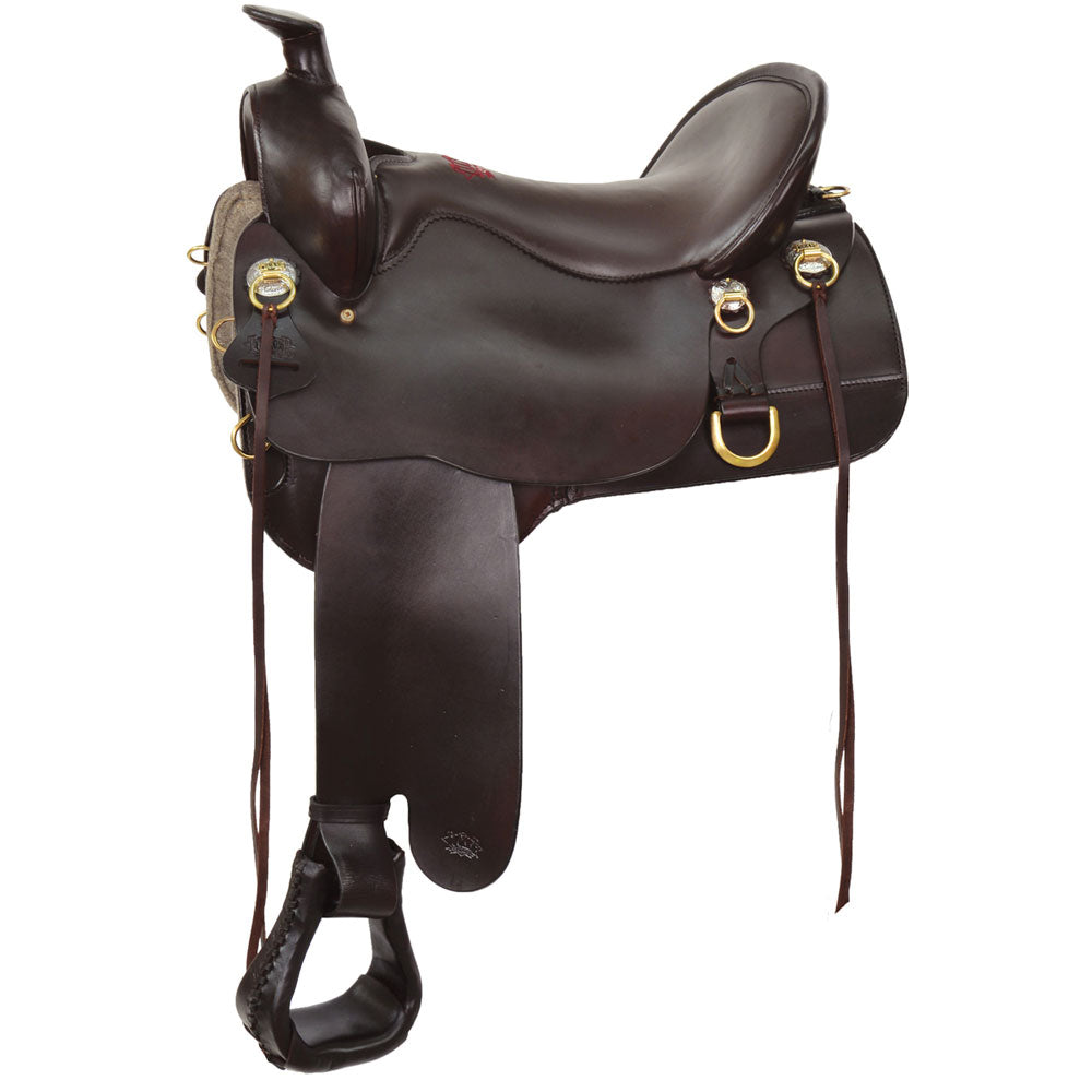 T60-721-9211-12 Tucker High Plains Trail Saddle 17.5 Wide Brown