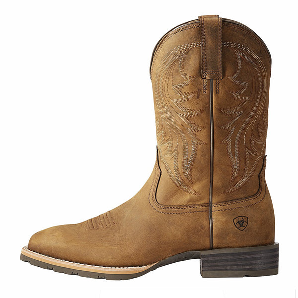 10023175 Ariat Men's Hybrid Rancher Square Toe Western Boot - Distressed Brown
