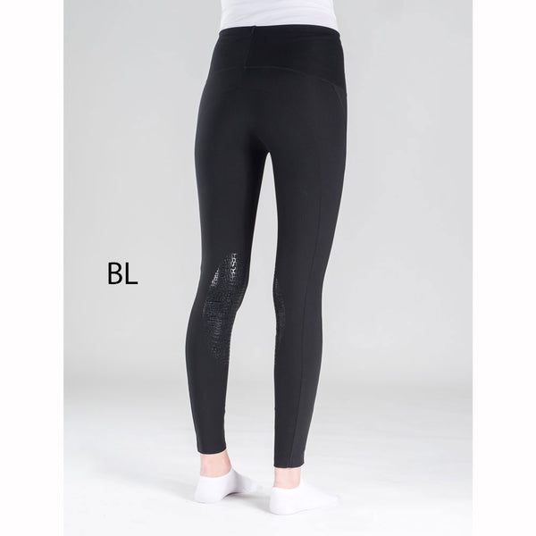 36033 Horze Bianca Women's Superlight Silicone Knee Patch Tights