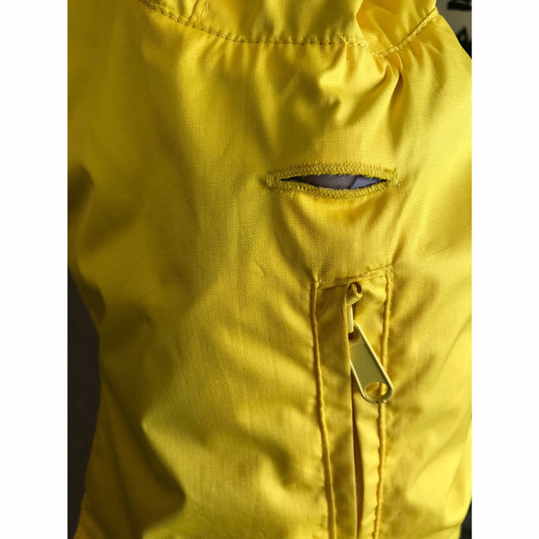 2895 Outback Dingo Pack-A-Roo Dog Hooded Rain Coat Yellow