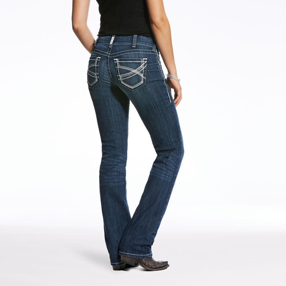 10024300 Ariat REAL Ladies Mid Rise Straight Leg Ivy Jean