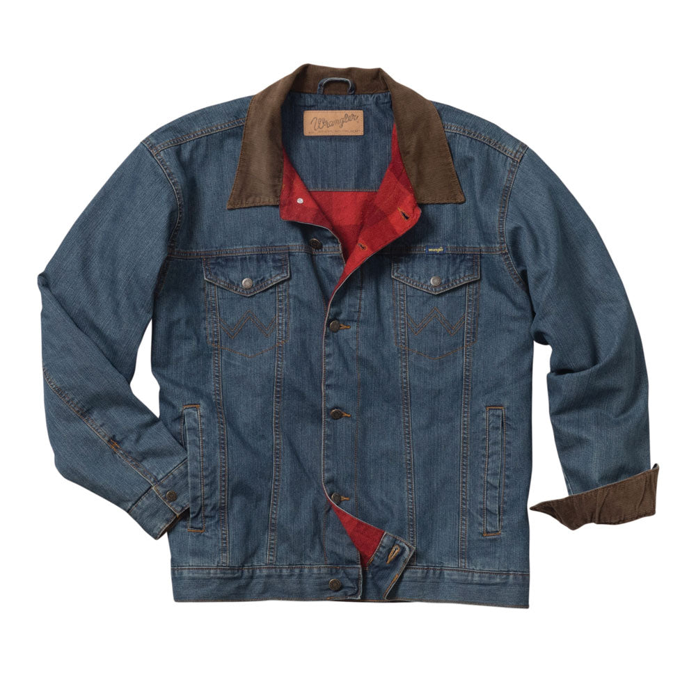 84265RT Wrangler Boys' Blanket Lined  Western Denim Jean  Jacket