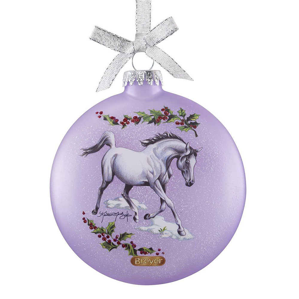 700822 Breyer 2018 Artist Signature Series Holiday Ornament - Arabian Horses