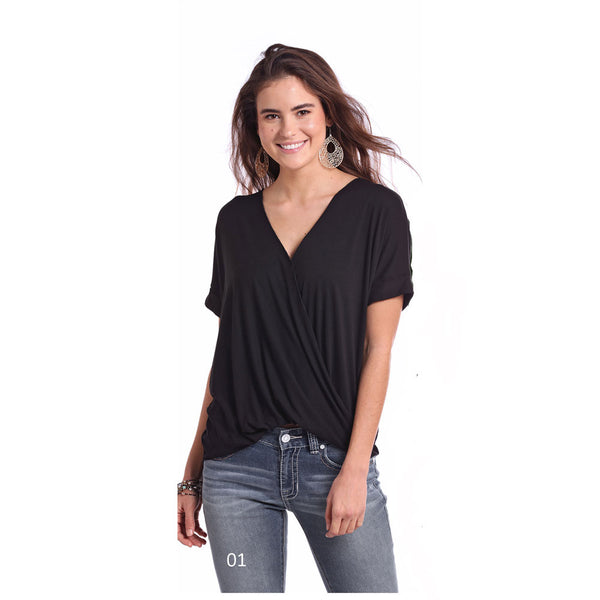 J9-8114 Panhandle Juniors Short Sleeve Stylish Blouse