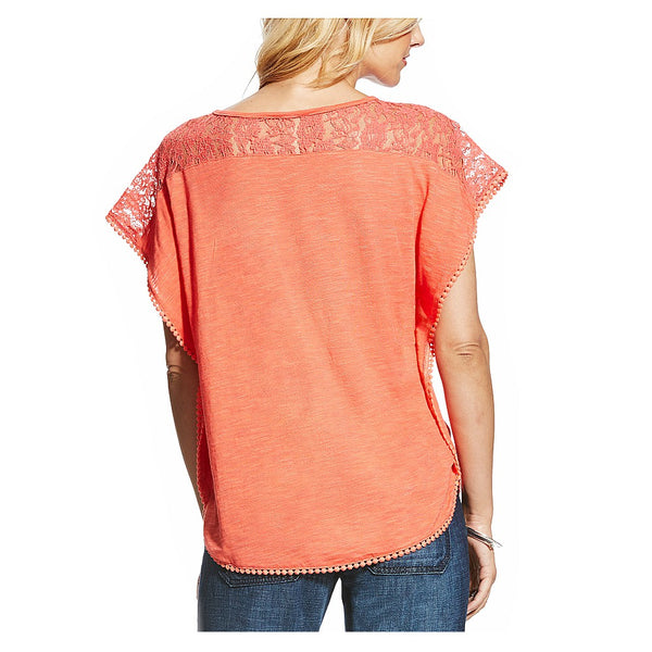 10022472 Ariat Women's Sunset Top With Lace Insets- Dubarry
