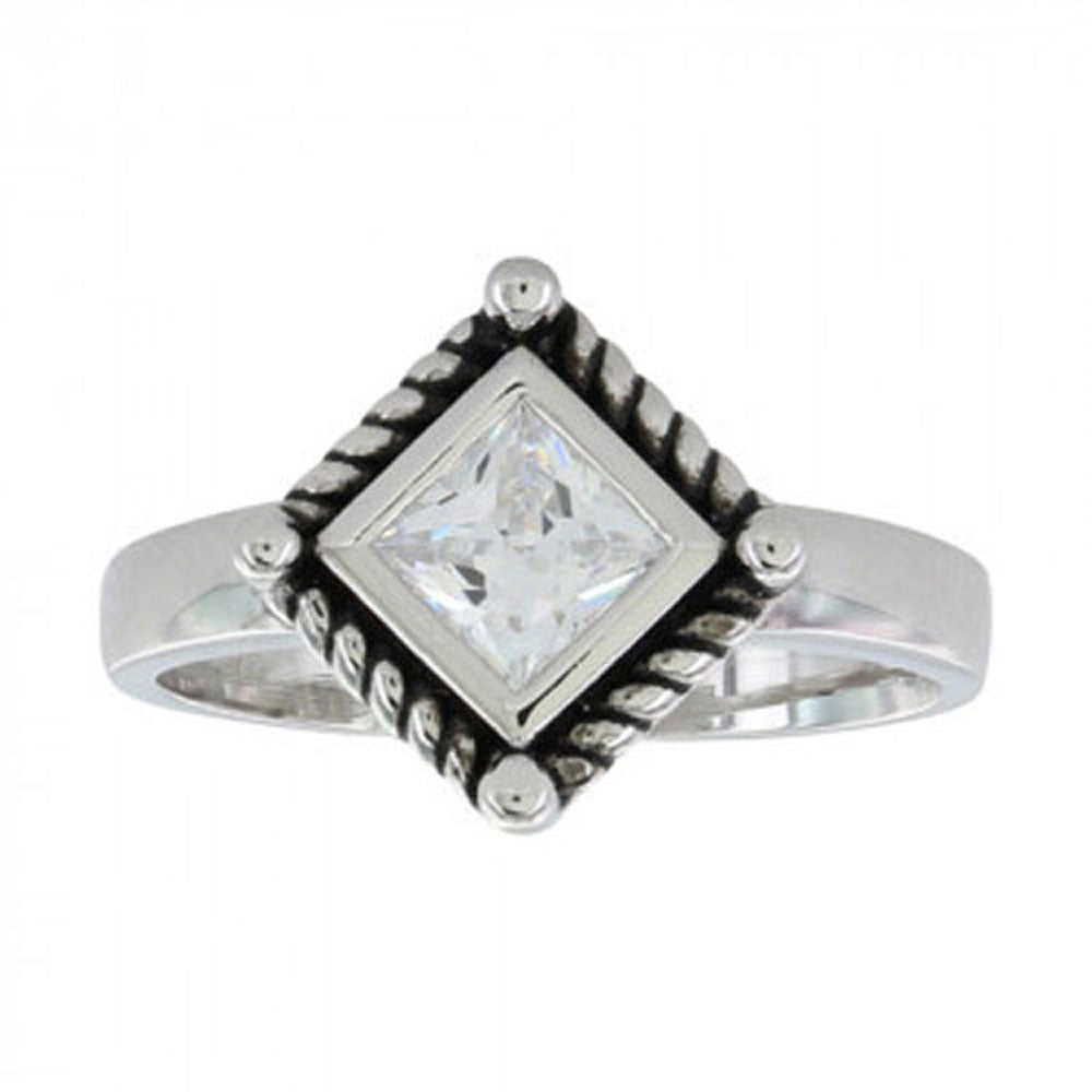 RG3024CZ Montana Silversmiths Roped Star Light Ring