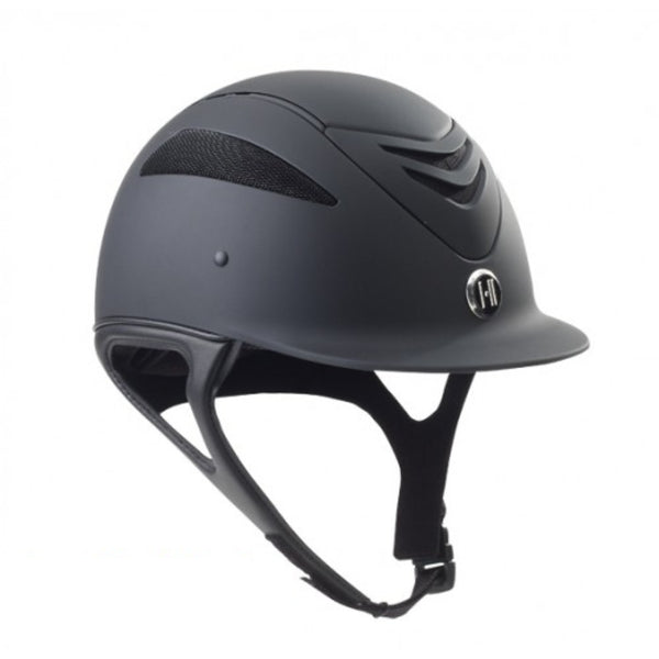 468259 One K Defender Equestrian Riding Helmet in Matte Black