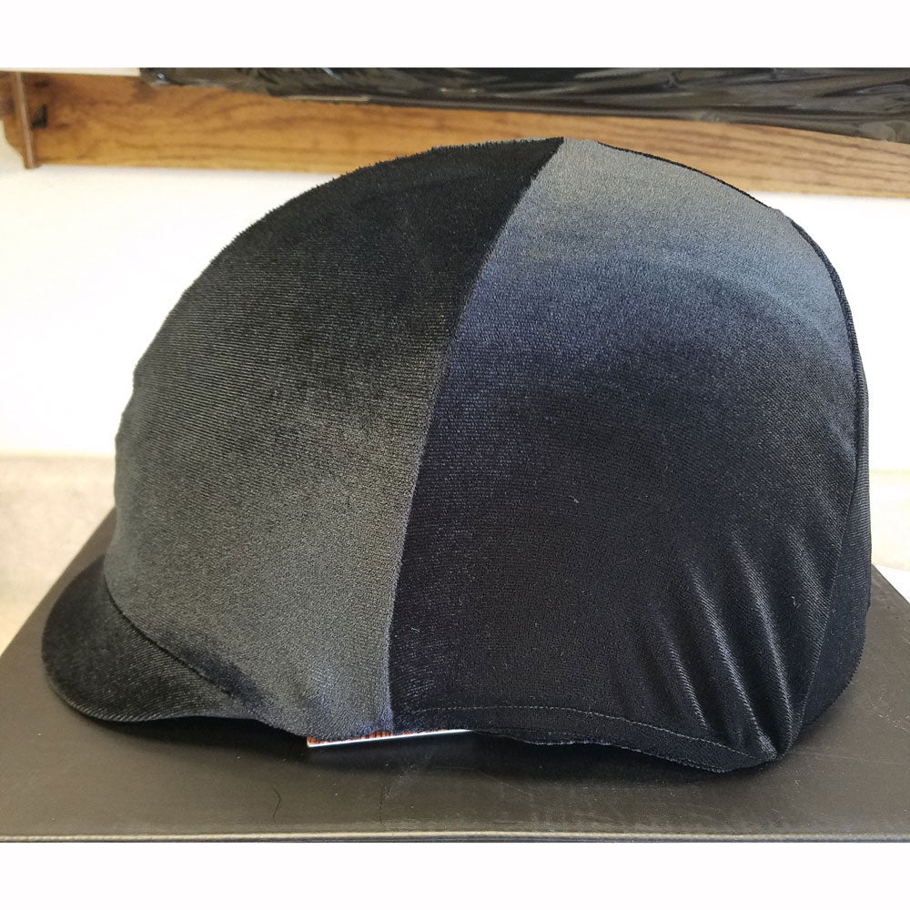 The Wire Horse Black Stretch Velvet Riding Helmet Cover