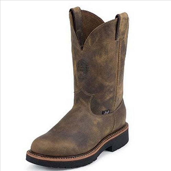 4440 Justin Mens Rugged Tan Gaucho Work Boot
