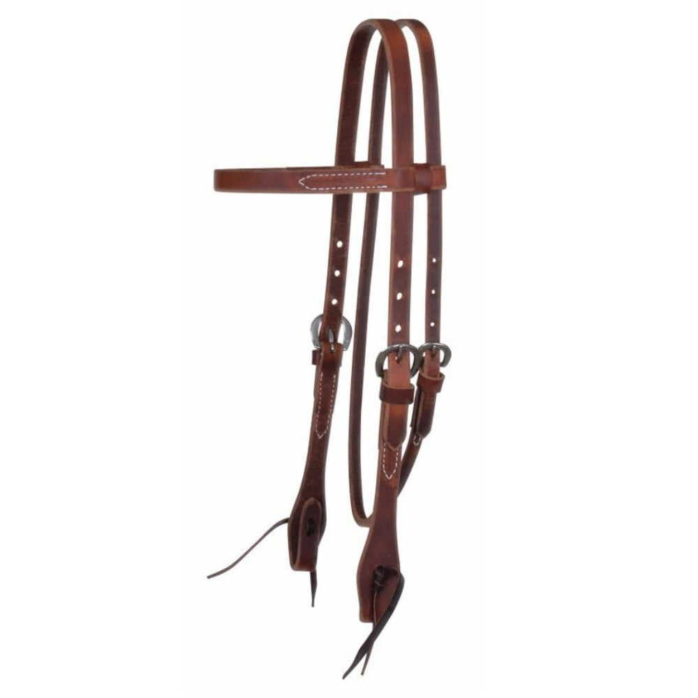 7148 Reinsman Classic Smooth Rosewood Leather Browband Headstall