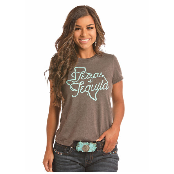 49T2886 Rock & Roll Cowgirl  Juniors Printed Tee