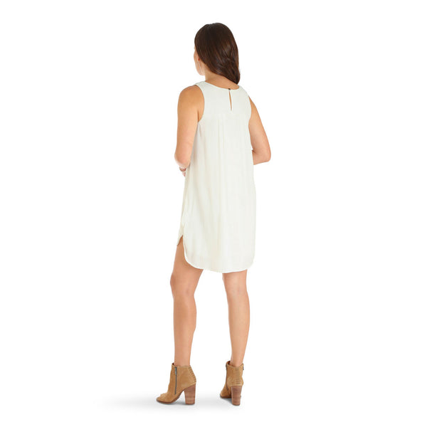 LWD253M Wrangler Women's Fashion Sleeveless Western Dress in Cream