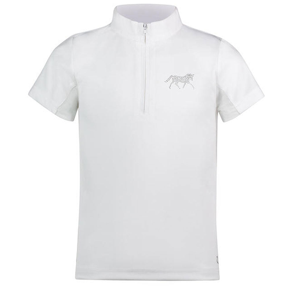 33299 Horze Lena JR Training/Show Combo Shirt White
