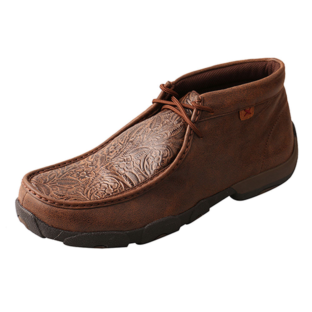 MDM0059 Twisted X Men's Driving Moccasins – Brown/Brown Print