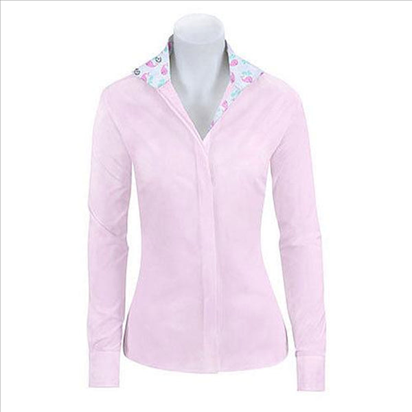 L616G-J RJ Classics Girl's Whales Trim Prix Jr. English Show Shirt Pink
