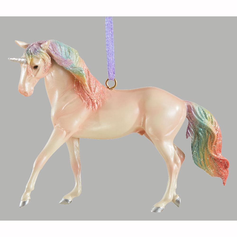 700651 Breyer 2019 Majesty Unicorn Holiday Ornament Christmas