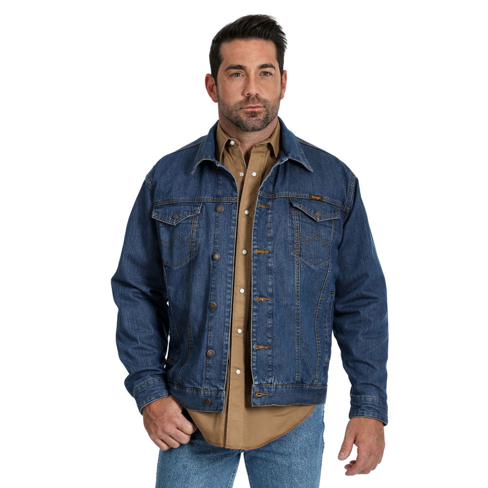 74265VW Wrangler Men's Concealed Carry Denim Jean Jacket - Vintage Wash
