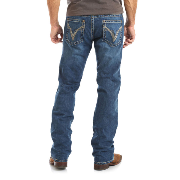 MRS47DB Rock 47® By Wrangler® Men's Slim Straight Jeans - Double Bass Finish