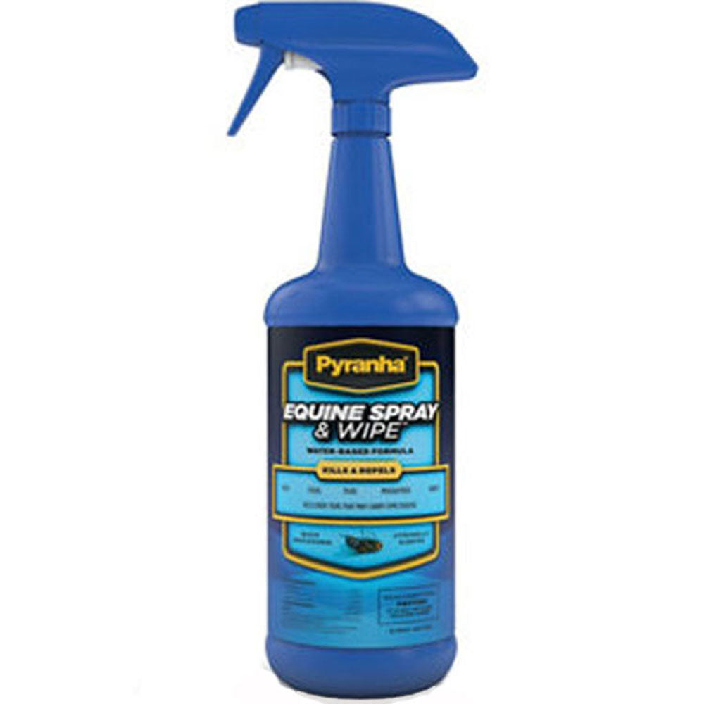 Pyranha Equine Spray & Wipe Fly and Insect Repellent Quart