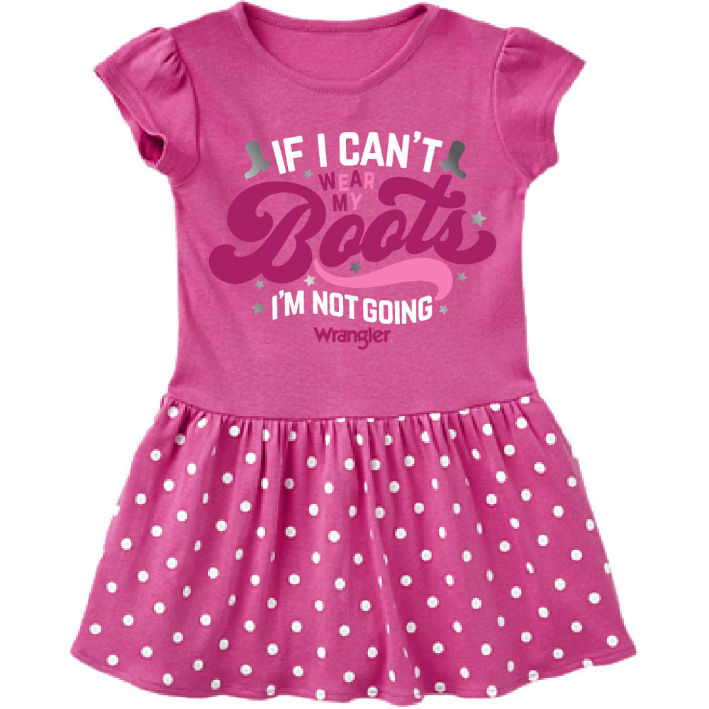 W43208411 Wrangler Baby Girls Short Sleeve Dress- Pink