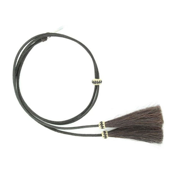 0295301 Genuine Leather Stampede String with Horsehair Tassel