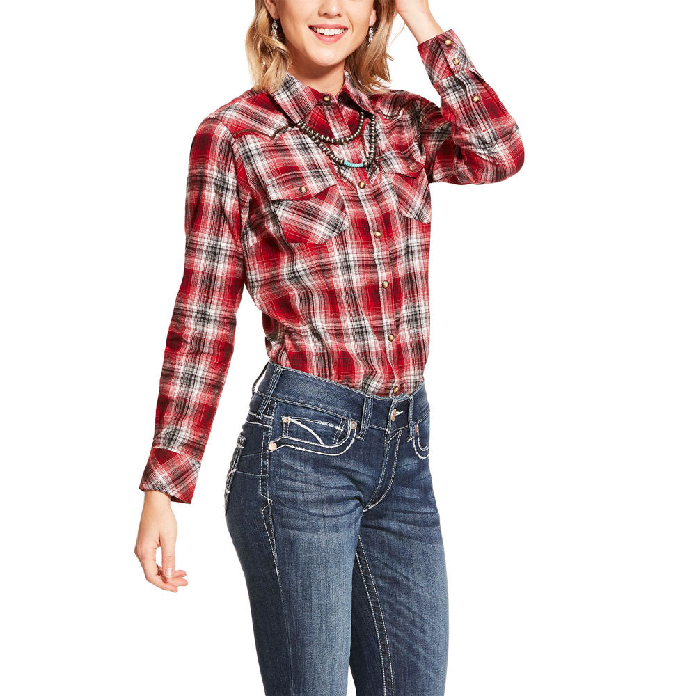 10028757 Ariat Women's R.E.A.L. Spark Shirt - Multi colored Plaid