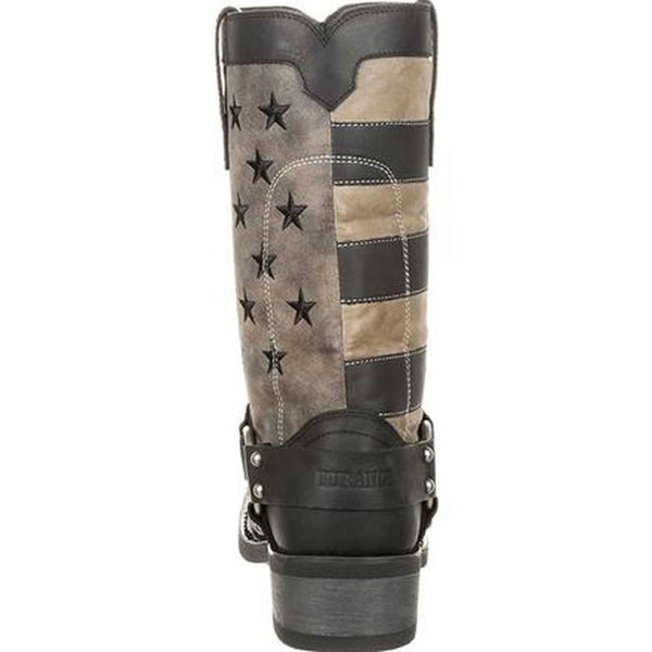 DDB0141 Durango Men's Black Faded Flag Harness Boot