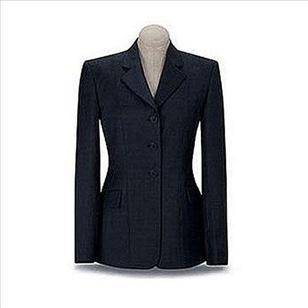D8355 RJ Classics Ladies Prestige Collection Devon Show Coat Dark Blue Plaid