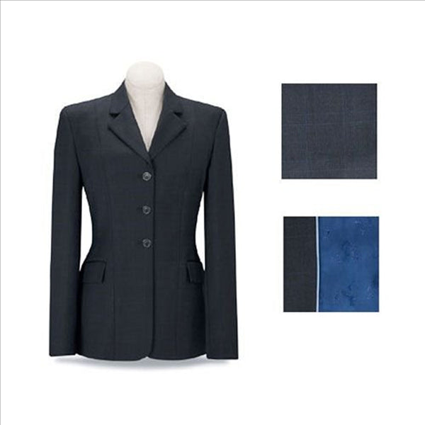 D8456 RJ Classics Devon English Jacket Navy Plaid