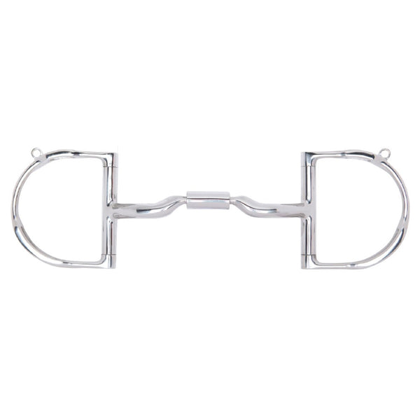 89-44045 Myler 3 3/8 Inch Medium Dee w/Hooks Low Port Comfort Snaffle MB 04 Level 2
