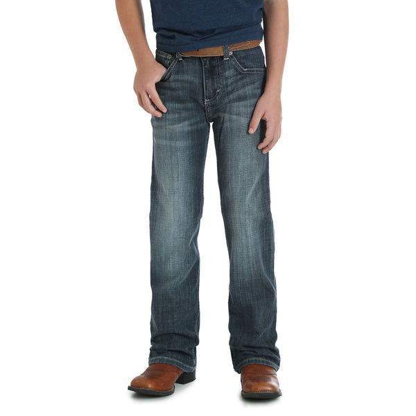 42BWXGG Wrangler 20X Boys Vintage Boot Cut Jean - Color: Glasgow