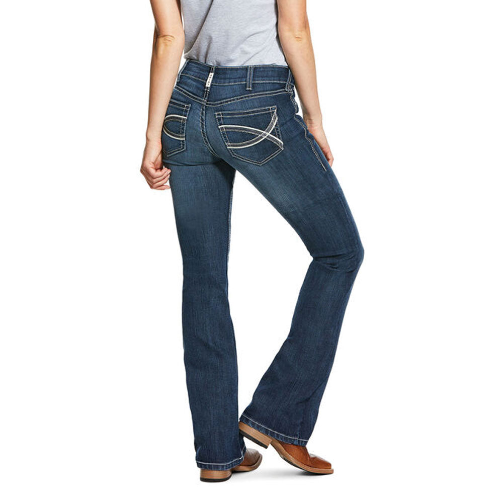 10030259 Ariat Women's R.E.A.L. Mid Rise Arrow Fit Stretch Shayla Boot Cut Jean