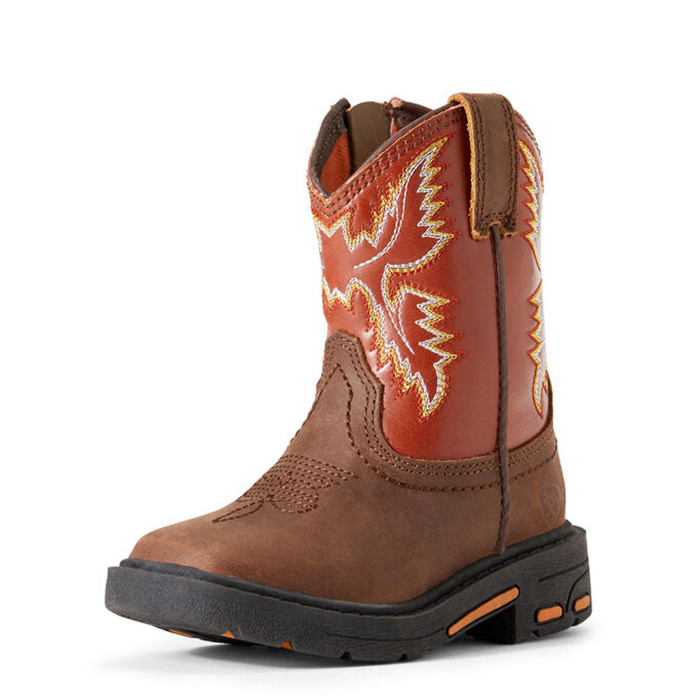 Ariat Lil' Stomper Toddler Workhog Western Cowboy Boot