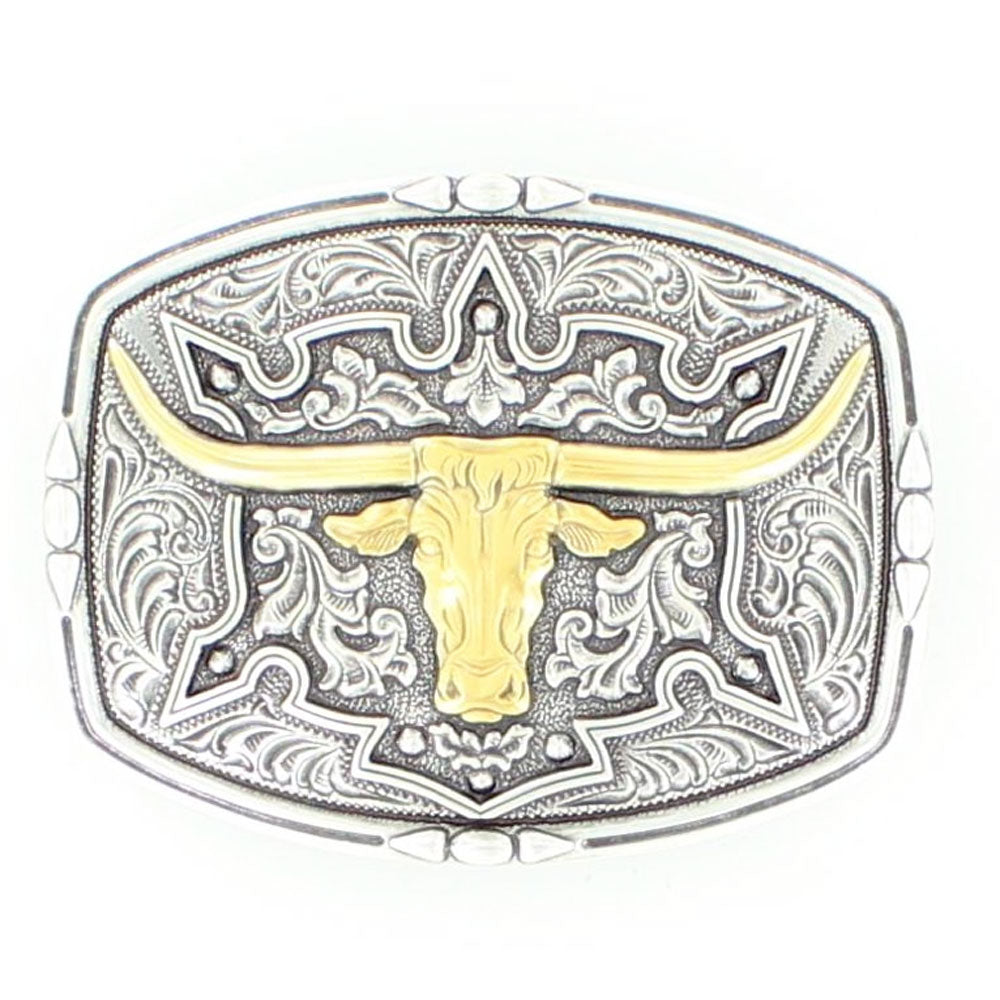 37688 Nocona Men's Longhorn Western Belt Buckle